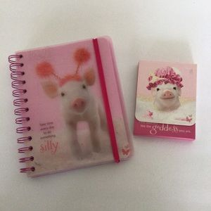 GRAPHIQUE WILD SIDE IN THE PINK NOTEPAD SET NWT
